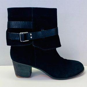 Nine West Black Suede Leather Booties